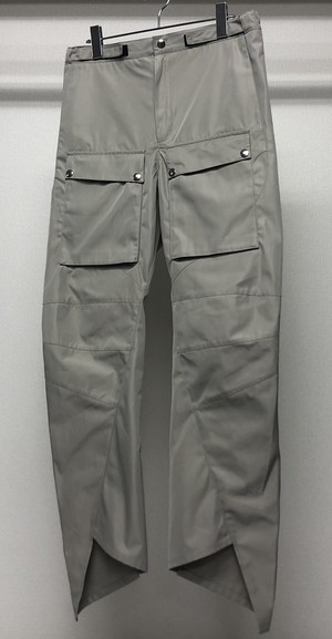 ARNAR MAR JONSSON WALHEM ENGINEERED POCKET CARGO TROUSERS WITH ADJUSTABLE WAISTBAND