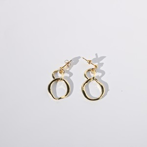 Oblong Pierce/Earring  Gold ver(金属アレルギー対応)