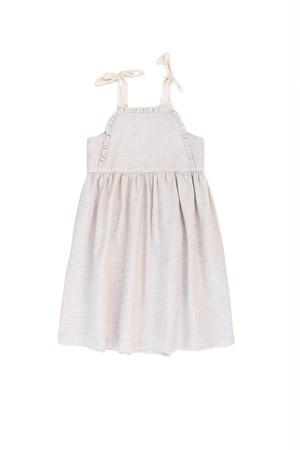 【KOKORI】Apron Dress Stone Beige SS21043