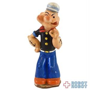 ポパイ OKサイン 陶器フィギュア