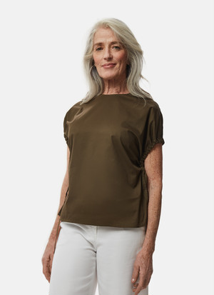 COTTON TOP WITH GATHERING SLEEVES