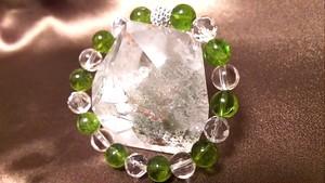 ◆太陽の石*ポジティブな力◆ペリドット&水晶