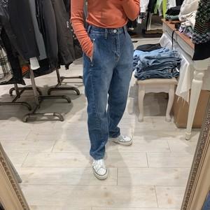 【即納】韓国ファッション テーパードデニム