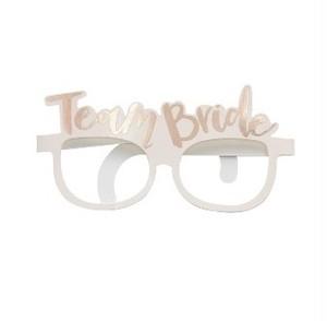 【販売】 Team Bride・メガネ型フォトプロップス(5枚セット)
