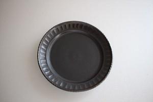 松岡賢司(平安楽堂)|鎬 豆皿 黒マット