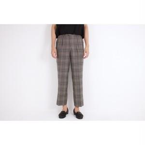 gray checked slacks