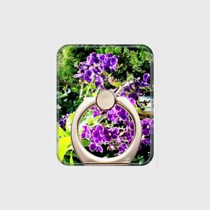 スマホリング★紫の花