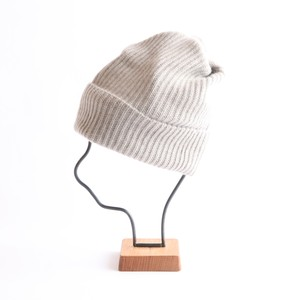 mature ha./pleats knit cap/light greige