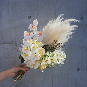 New*【Rental7泊8日】orchid white bouquet & boutonniere