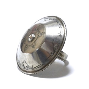 Vintage African Tuareg Silver Rattle Ring