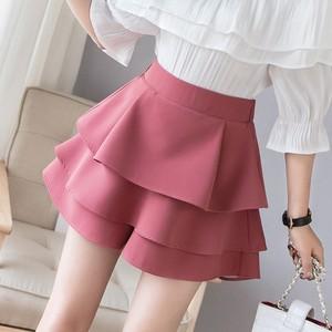 【bottoms】スカート人気ハイウエストショート丈シンプ無地オシャレ合わせやすい