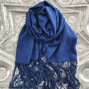 Antique Indigo Shawl/ Gentle Blue