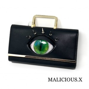 cat eye shoulder & hand bag / green