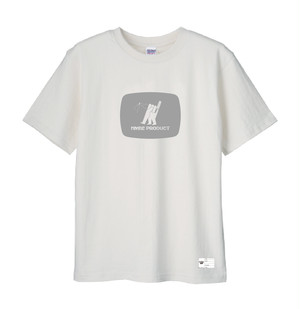 NMBE WEEK Tシャツ / ホワイトx グレイ