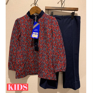 【KIDS】FRENCH VINTAGE 60/70's Patterned Jersey Ensemble - French -