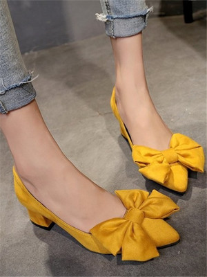 【shoes】Fashion style new bow single popular shoes
