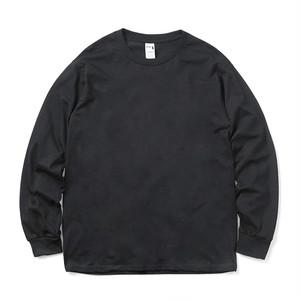 クルーネック Tシャツ (長袖) ブラック