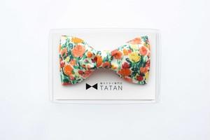 TATAN ローズガーデン蝶ネクタイ(オレンジ)