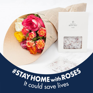 「Stay Home with Roses」+バスソルト