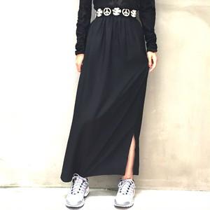 70's Black long skirt