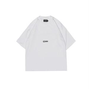 QDMM logo D-shoulder Shortsleeve ショートスリーブカットソー ホワイト