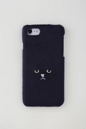 【新生地】ネコiPhone6/6sケース【ブラック】