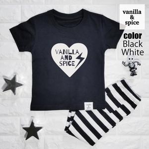 プリント 半袖 Tシャツ Heart Logo ハート ロゴ サンダー 雷 子供服 キッズ vanilla&spice バニラ&スパイス