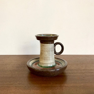 Vintage Pottery Handmade Candle Stand オランダ