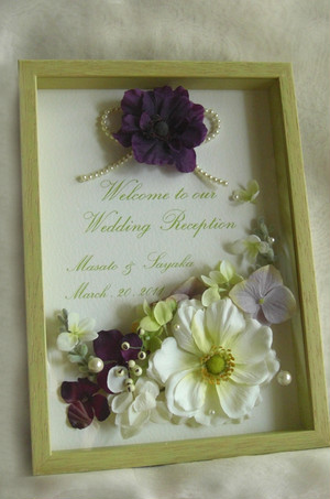 ウェルカムボード ボックス (アネモネ)ウェディング 結婚式 ギフト モダン