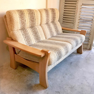 Oakwood Frame Retro Vintage 2P Sofa 70'sオランダ