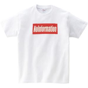 無情報オリジナルTシャツ 白デザイン