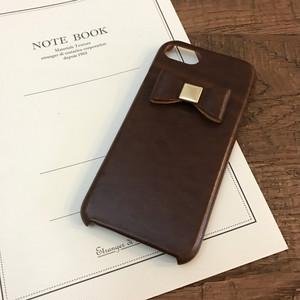 革の宝石ルガトーのリボン付きiPhoneカバー/iPhoneケース Xs対応