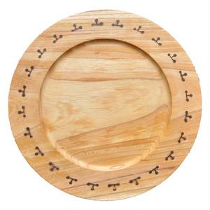 焼印の絵皿|パン皿