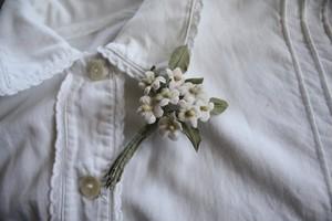 モアの小花布花ブローチA