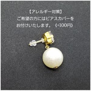 【金具変更】樹脂ピアスカバー