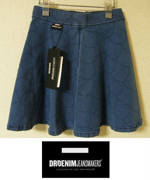 新品 Dr.Denim ドクターデニム 円形パターン柄デニムミニスカート「Alabama Medalion」【Sサイズ/7号程度:ウエスト61cm】