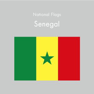 国旗ステッカー セネガル