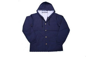 INDEPENDENT TRADING Water Resistant HOOD COACHE JACKET NAVY