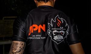 柔術狂人 X Fighting Monkyky ラッシュガード ナショナルシリーズ JPN(黒)