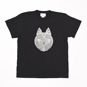 ◆Apsu Shuseiコラボ◆「世界一怪談を聞いている猫」Tシャツ BLACK×WHITE