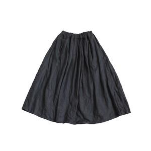 リネンオックスタックスカート*ブラック