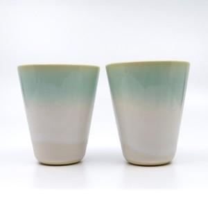 青い萩焼 Lemonade ペアカップ