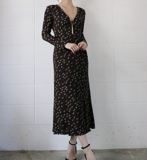 90's DKNY brown dress