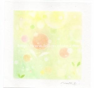 Mariko Hirai フォトdeアート シャボン玉アートパステル原画【いのち】