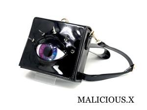 eye 2way shoulder bag / violet × blue