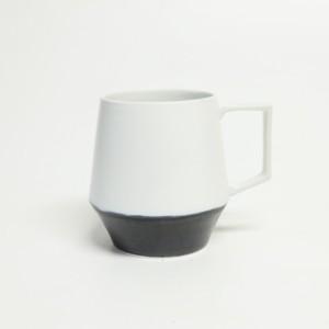 掛け分けマグカップ【白×BLUE BLACK】