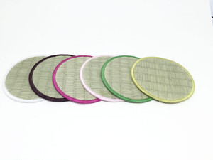 【Tatapi】シンプル畳コースター 6枚セット 丸型(和風カラー)