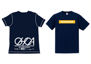 OHCAHOPPERS Tシャツ ネイビー×イエロー 001(NEW)