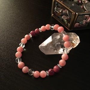 【高品質】ピンクオパールとロードナイトのヒーリングブレス
