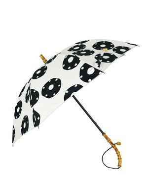 EP-53 bamboo リングドットプリント 晴雨兼用傘 ナチュラル